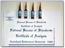 Materiais certificados para calibração e Qualificação.